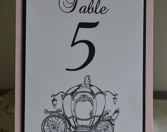 Cinderella Inspired Table Numbers