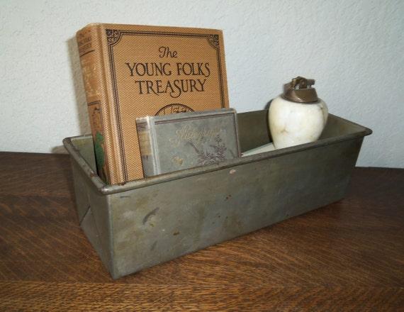 Vintage Metal Box Industrial Storage