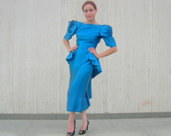 Vintage blue glamour dress