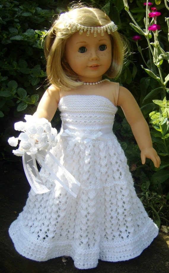Knitting Patterns For Ag Dolls : Karen Mom of Threes Craft Blog: Mini Doll Monday ~Knit A Sweet Dress For...