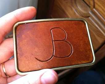 Custom Brand Belt Buckle with Antique Brass - Made to Order
