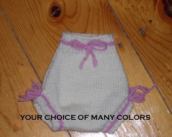 Newborn Knit Wool Soaker/Diaper Cover