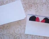 25 White size A7 envelopes ONLY - will fit Minnie or Mickey Birthday Party Invitations
