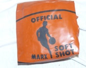 Vintage Old Store Stock MARX Official Blow Up BASKETBALL  Mint in Package
