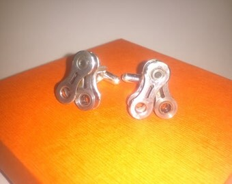 LIMITED Bicycle Cuff Links Shimano Dura-ace Bicycle Cuff Links, Shimano Bicycle Accessory, Cuff Links, Steampunk Gift,  Wedding, Groomsman
