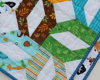 Sale, Baby Boy Quilt, Zoo Animals Quilt, Riley Blake Zoofari, Sale!