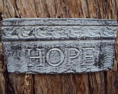 Hope Stone,  Hand Made, Wall Hanging,  Weighs Almost One Pound,  Ready for hanging
