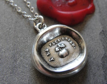 Wax Seal Necklace Eris & Golden Apple antique wax seal charm jewelry Chaos Pranks by RQP Studio