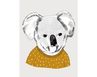 Koala print - 8 x 11.5 - A4