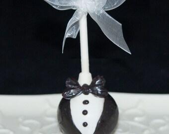 GROOM CAKE POPS, Groom in Uniform Cake Pops, Wedding Cake Pops, Bridal Shower Favors