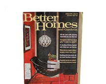 Vintage Magazine Better Homes and Gardens- Wall Coverings Crafting and Cooking with Chocolate - November 1967 - Vol. 45 No.11