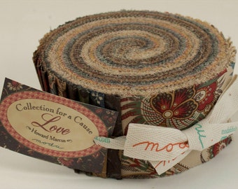 Collections for a Cause - Love Fabric Collection by Howard Marcus for Moda Fabrics - 1 Jelly Roll
