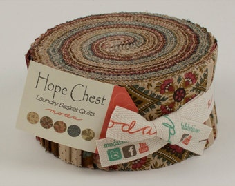Hope Chest Prints Fabric Collection by Laundry Basket Quilts for Moda Fabrics - 1 Jelly Roll