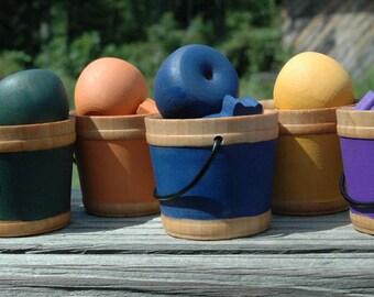 Montessori  Sorting Buckets Wooden Sensory Toy