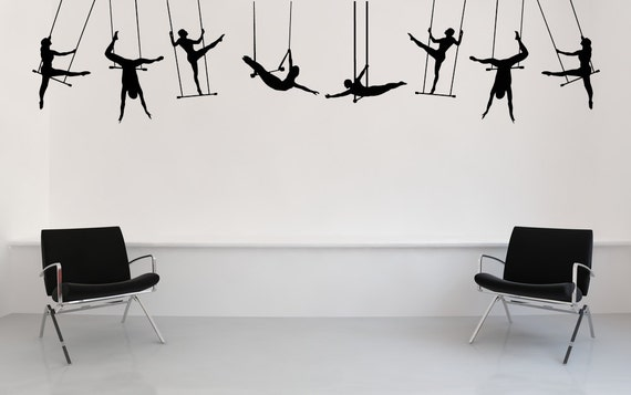 Grandi trapezisti circo fiera carnevale di vinylwalladornments