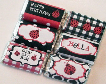Ladybug Party Mini Candy Wrappers