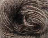 "Handspun Yarn ""Frosted Brown"" Single Ply 100% Wool"