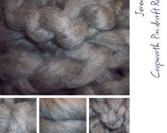 8 oz. Coopworth wool. Pin draft roving. Jeremiah
