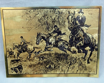 Vintage R.H. Palenske Hide and Seek Gold Foil Etch Print
