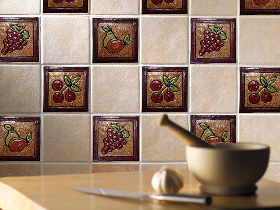 Http Www Etsy Com Listing 119090856 Tile Stickers Fruits Decoration Home