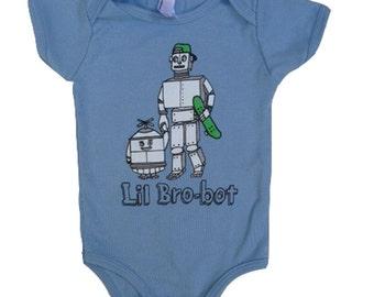 Light Blue Lil Bro-bot Bodysuit