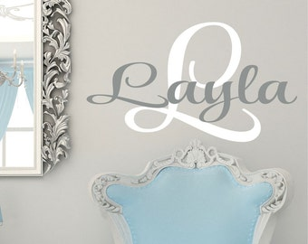 Nursery Name Sign removable vinyl stickers available in 35 colors
