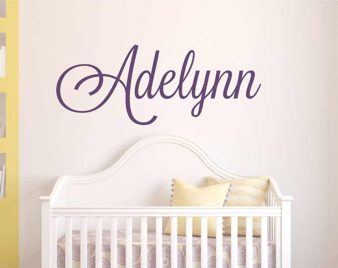 Name Wall Decal // Custom Wall Decal for Boys or Girls Nursery // Personalized Name Wall Sticker // Nursery Wall Art
