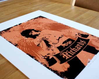 Hand Pulled Limited Edition Keith Richards Screen Print