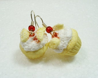Butterfly Cake Earrings. Polymer Clay.