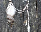 Feather Ear Cuff - Three Feathers