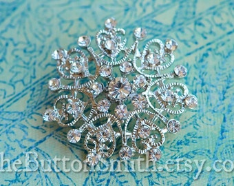 Rhinestone Buttons -Christine- (40mm) RS-054 - 5 piece set