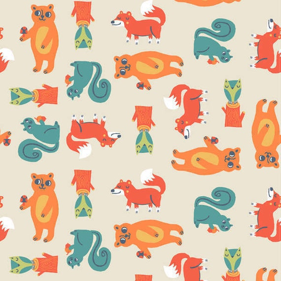 Allison cole flannel fabric happy camper for camelot fabrics for Baby themed fabric