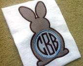 Bunny Applique Shirt with Custom Initials
