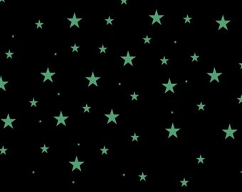 31, Stars, Glow-in-the-Dark, removable, wall decal