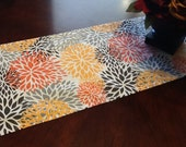 Table Runner - Fall Table Runners  Multi Colored Mum Runner Thanksgiving Table Runner For Holidays, Weddings or Home Decor - Select A Size