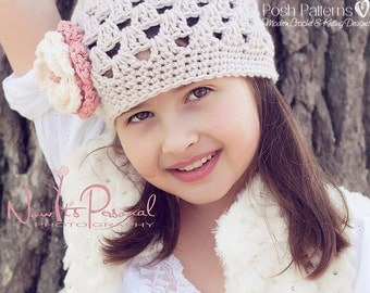 Crochet PATTERN - Baby Crochet Pattern - Crochet Pattern Hat - Crochet Hat Pattern - Crochet Pattern Hat - Includes All Sizes - PDF 123