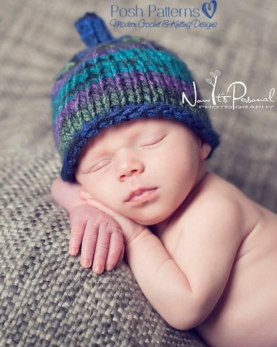 Knitting Pattern Baby Hat 12 Months : Knitting PATTERN - Easy Knit Hat Pattern - Knit Baby Hat ...