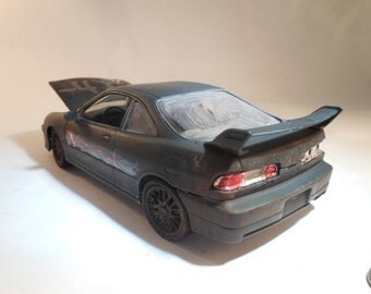 Classicwrecks Scale Model Rusted Black Integra Drifter