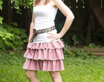 Amanda's Women's Triple Ruffle Skirt PDF Sewing Pattern sizes XS-XL