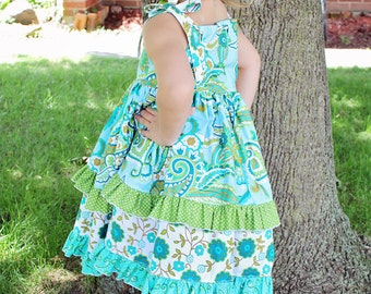 Riley's Redesigned Knot Dress PDF pattern sizes  6-12 months to size 8