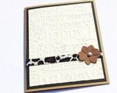 Animal Print Birthday Card