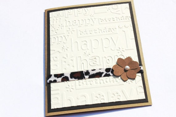 Animal Print Birthday Card