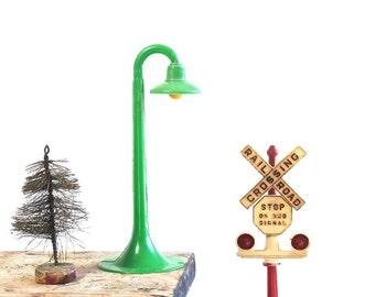Vintage Railroad Crossing Sign - Model Train Accessories - Miniature Streetlight - Nursery Decor