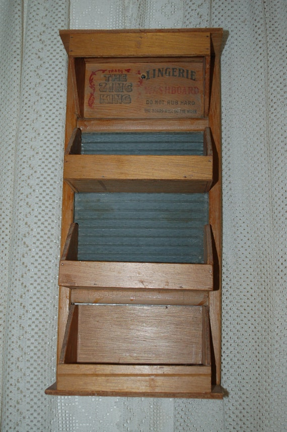 Items similar to vintage washboard shelf country decor on etsy for Shelf decor items