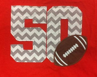 Distressed chevron number and sport ball