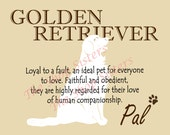 Golden Retriever Print Dog Choose Breed Personalize Silhouette 8 x 10 Print Wall Art customize pet FREE SHIPPING