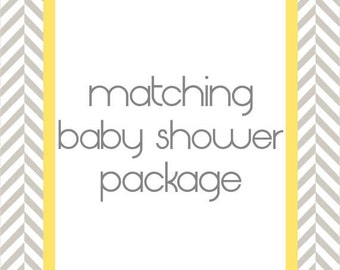 Matching Baby Shower Party Package for any Invite - Printable Digital