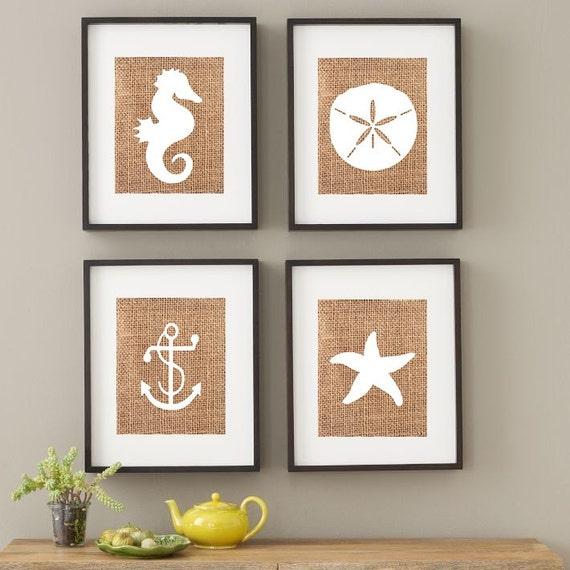 Beach house print nautical nursery print by liveathome for Beach house prints