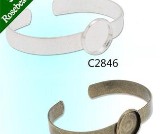10PCS Bracelet With 16MM Round Bezel,Cuff,Adjustable,Bracelet Blanks,Cuff Bracelet Blank