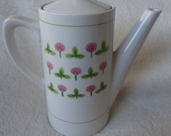 Vintage Harmony House Coffee Pot Clover Pattern